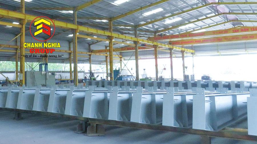 Xưởng sản xuất kết cấu thép tại Bình Dương