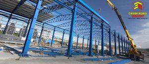 Ứng dụng kết cấu thép trong xí nghiệp