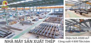 Nhà thép tiền chế bền vững tại Củ Chi