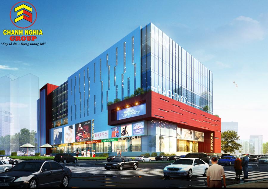 Thiết kế thi công trung tâm thương mại tại Đồng Nai