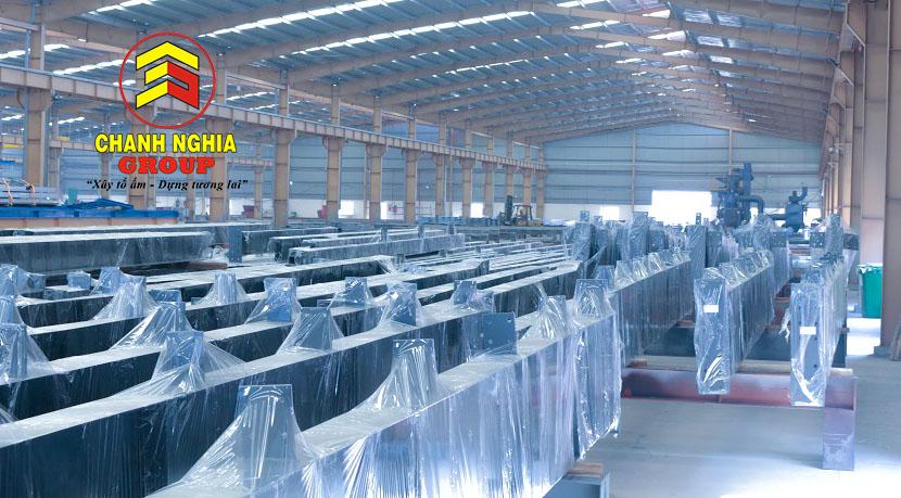 Sản xuất gia công kết cấu thép