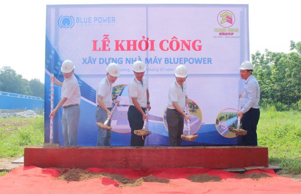 Thi công nhà xưởng BluePower Tân Uyên - Chanh Nghia Group